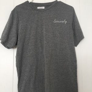 Comfy grey Sincerely Jules tee